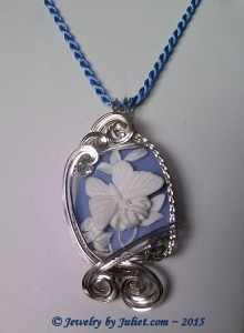 3-D Butterfly Cameo in Sterling Silver