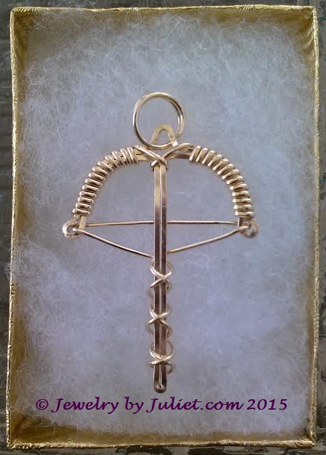 1st Edition Gold-filled Crossbow Pendant 02